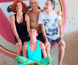 Final shot with Simon Borg Olivier at the end of  Teacher Training in Bali nov.2018 . With Roberta Arlenghi and Sandro Brancaleoni